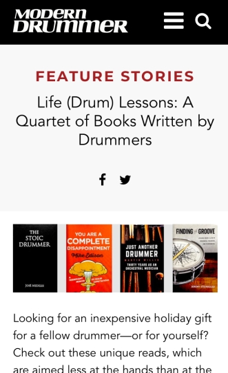 Modern Drummer feature
